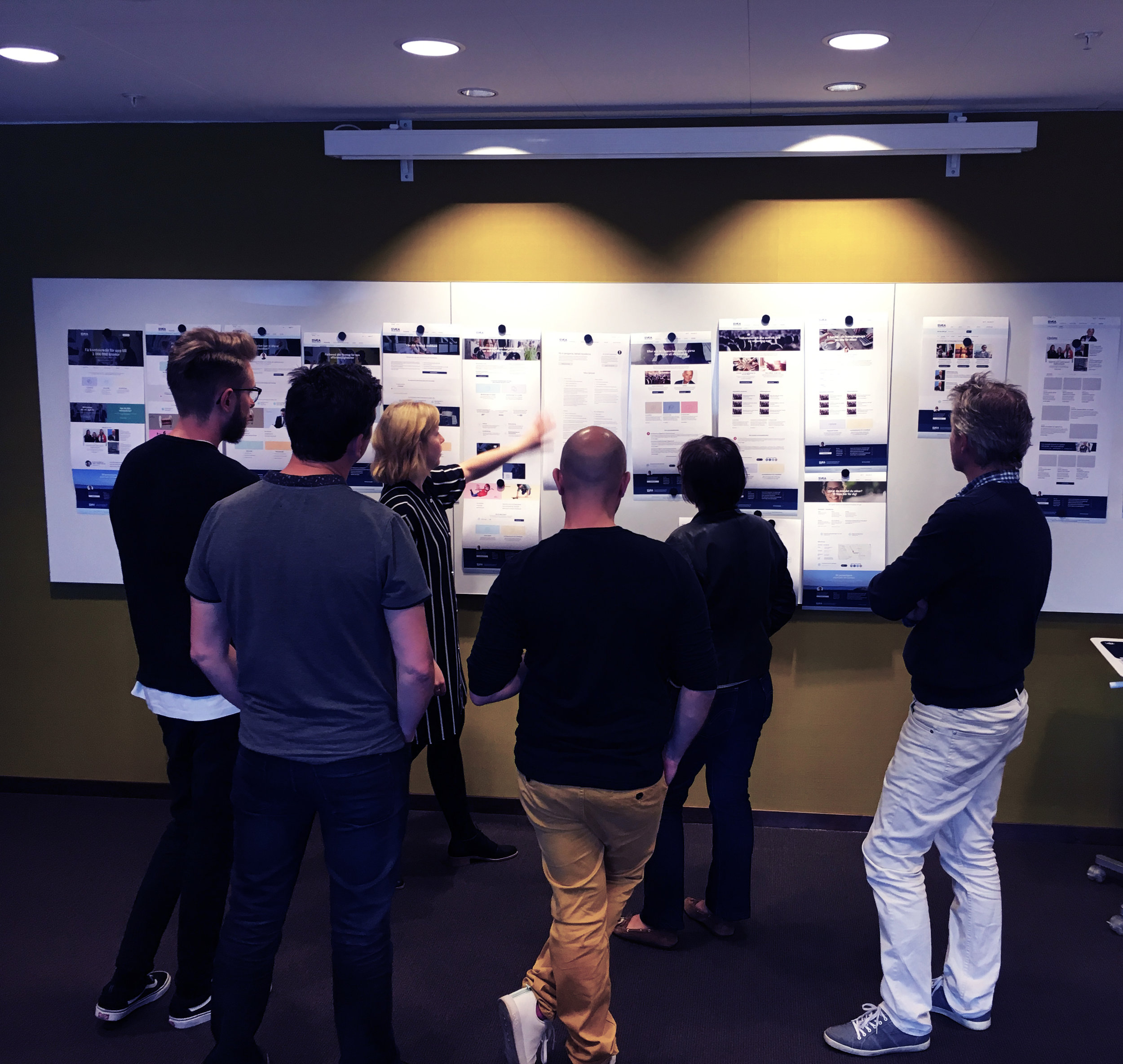 Design review with the marketing team at Svea Ekonomi