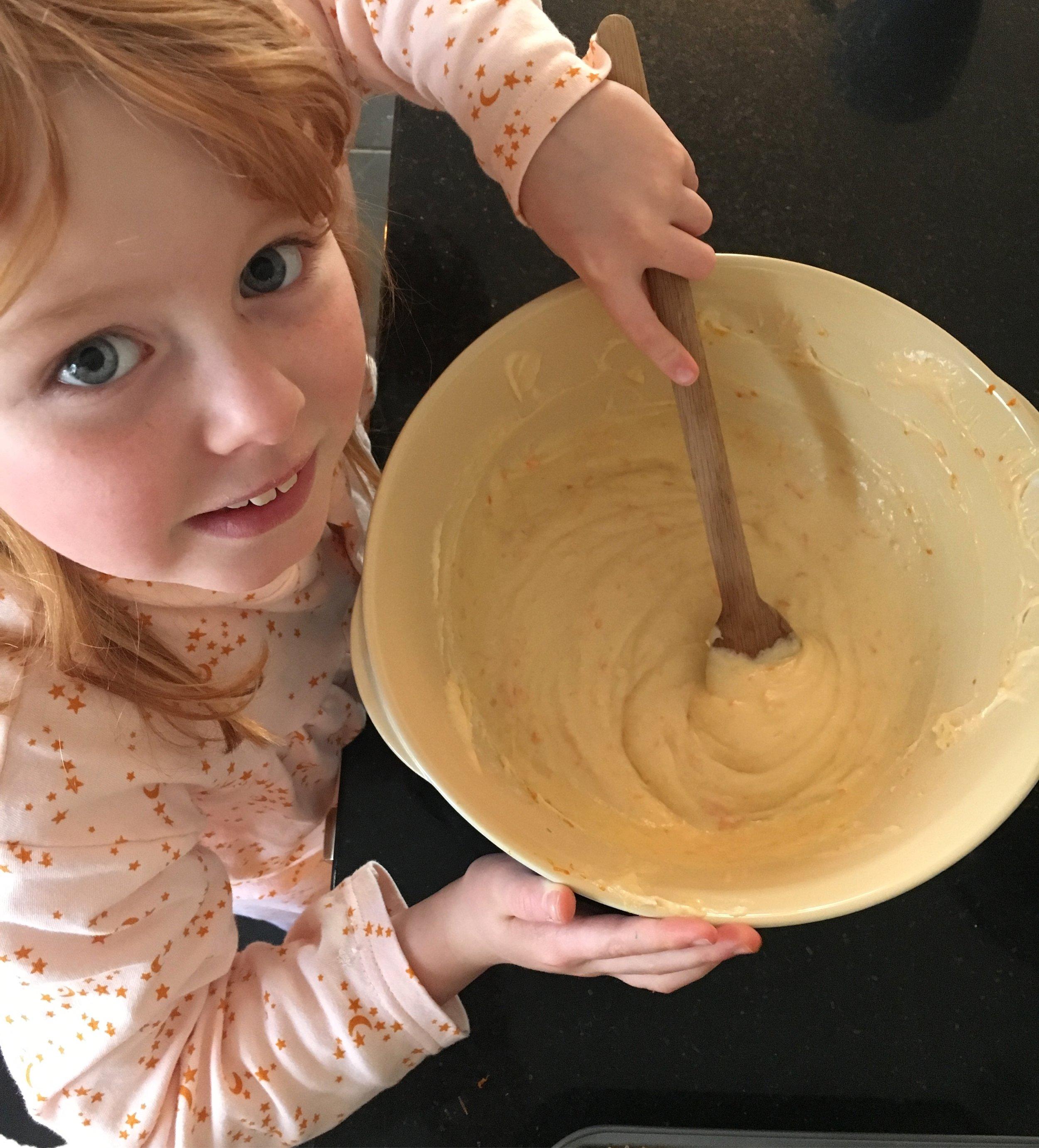 Florence baking the cake .JPG
