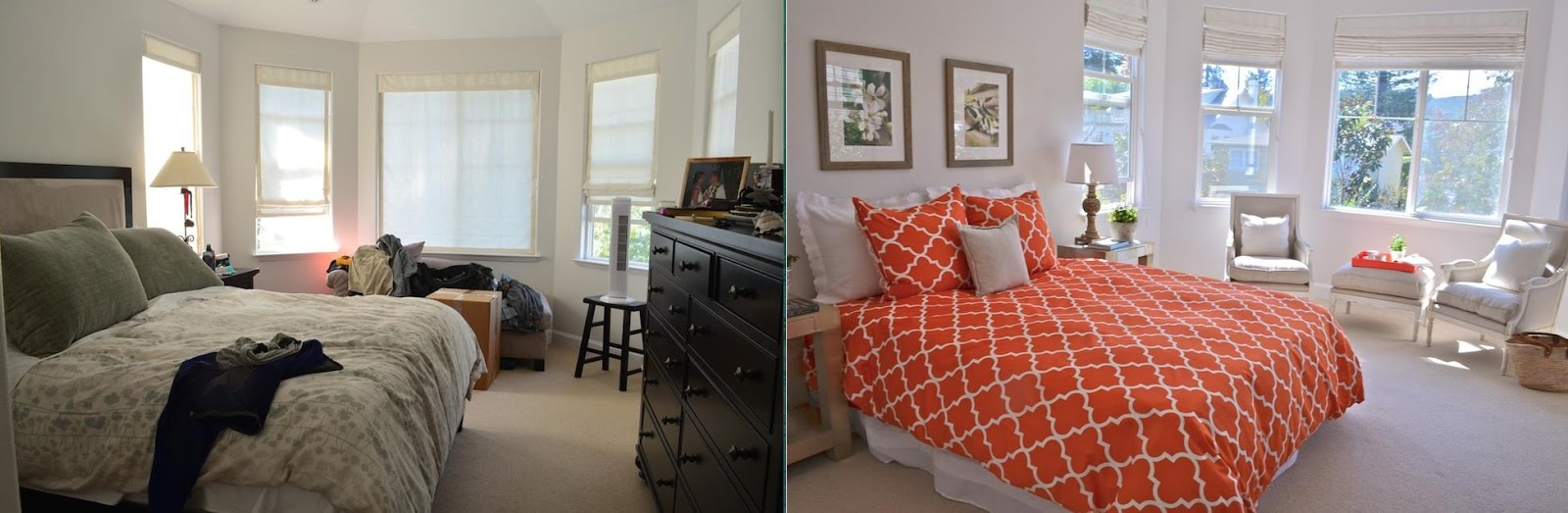 Bright accessories and light furniture make this room feel fresh and open.