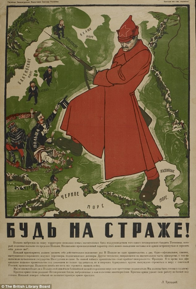 Dimitri Moor's 'Be on Guard!' map, 1921.