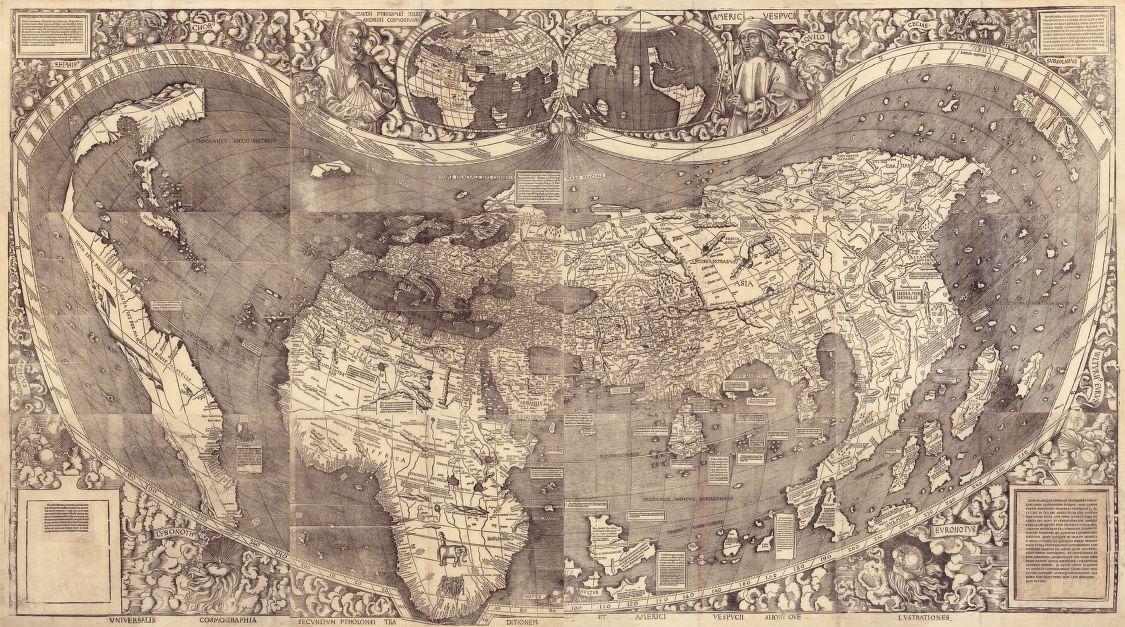 Martin Waldseemueller's Universalis Cosmographia, 1507.