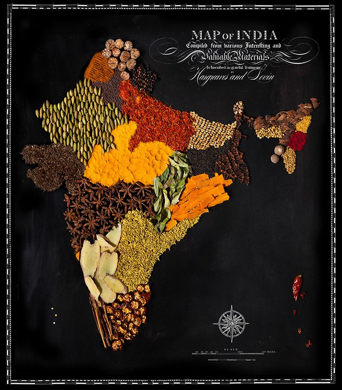 India is made from different spices