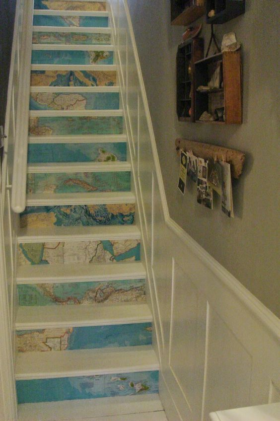 Don't be afraid of using map prints in unexpected places!