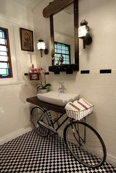 A great way to use that old bicycle in the shed!