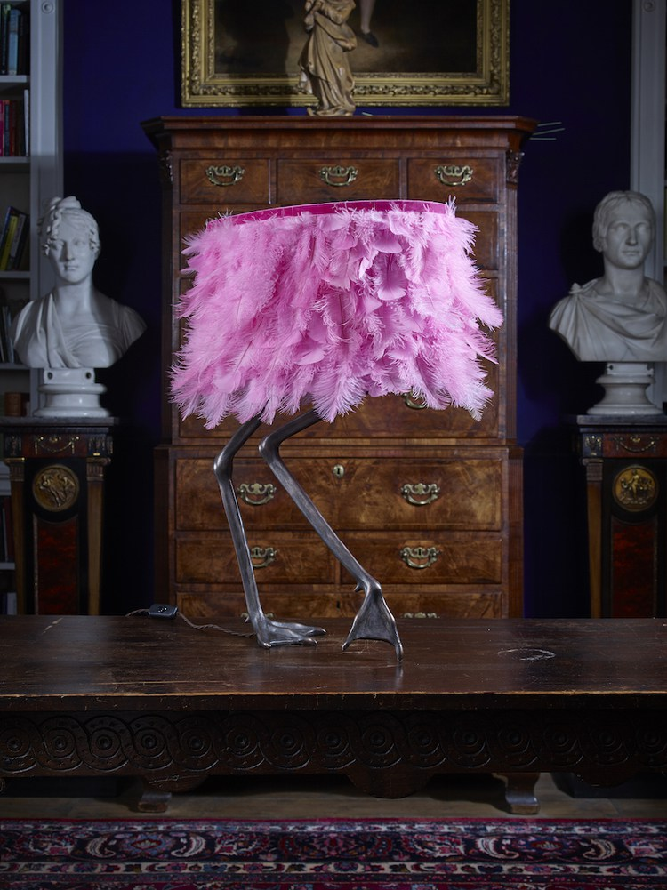 To make a statement plug in the  Viren Flamingo Lamp  in wild pink