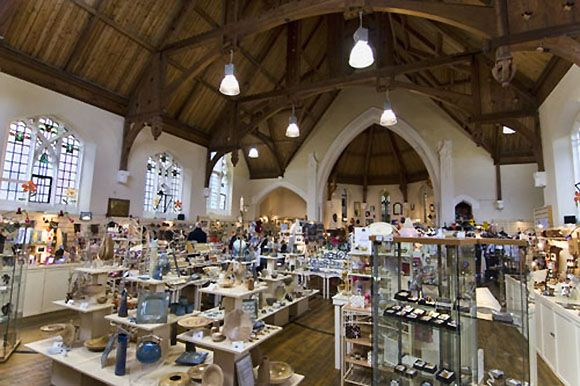 Lyn Valley Arts & Crafts  is a centre for 50 traders from Devon & Exmoor and is located in an converted Methodist Church in Lynton.