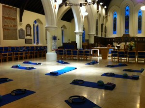 The location for this yoga therapy class is  Guildford United Reformed Church , which is still an active church on other days.