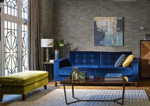 The  Odyssey  sofa from John Lewis really is a thing of beauty. It is practical, yet soft, and trendy whilst remaining classic. It could easily sit well in a gentleman's club, but it is soft and feminine too, so would be ideal in the home. Here it is in a deep blue, but there are so many different fabrics and types to choose from, including leather. You may find yourself needing to buy two...