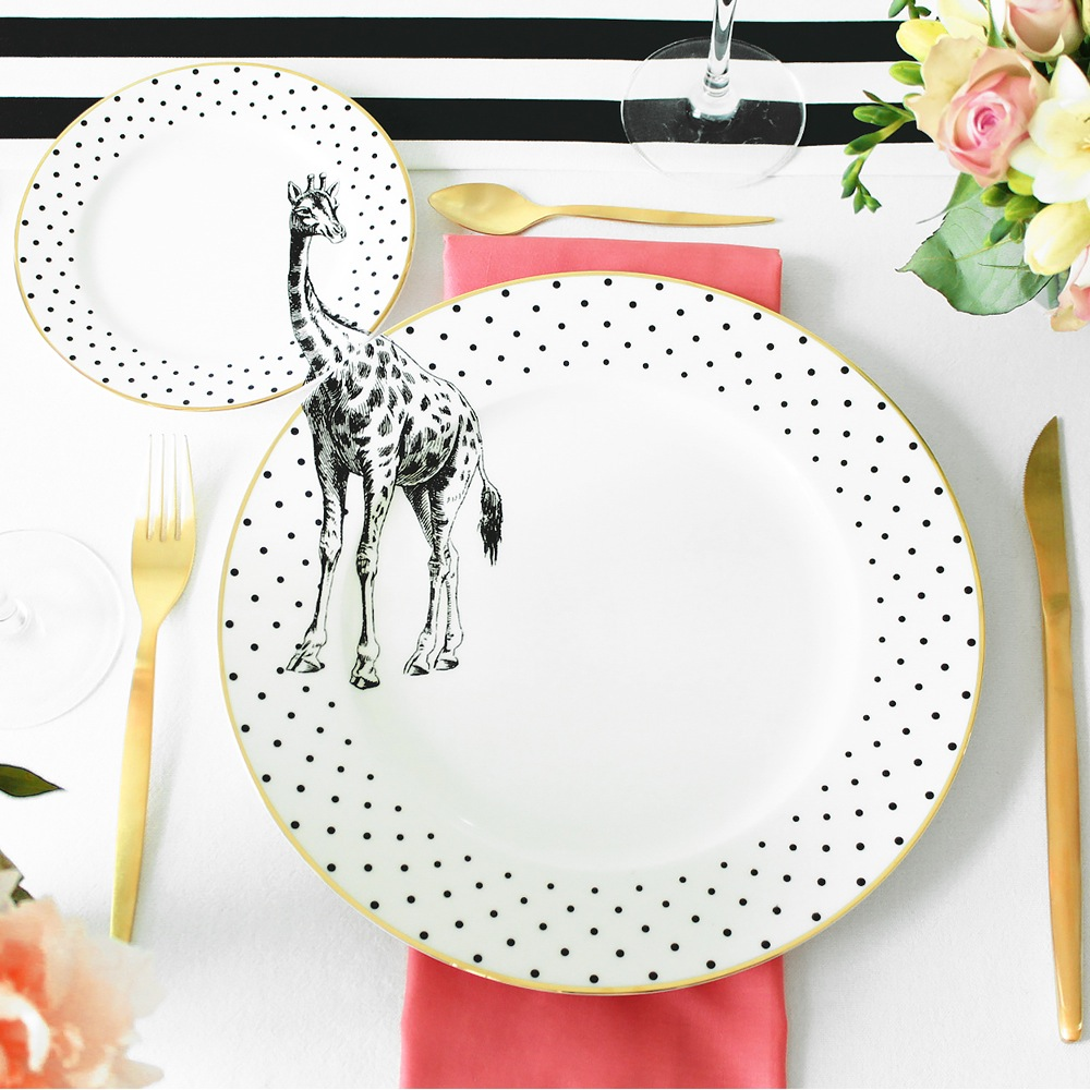 These homewares have such a great sense of fun about them. The dinner and side plate look so cool and are a great talking point. And the teacup and milk jug harken back to 1920s prohibition and will make having tea a little bit more decadent.  Source:  Yvonne Ellen