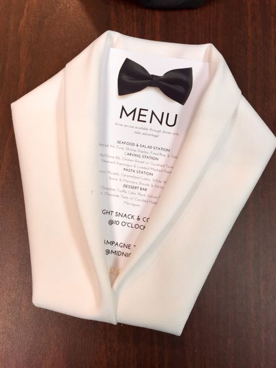 ...Be creative with your table and menu...   Source: pinterest.com
