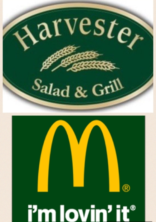 McDonald's and Harvester are trying to harness the positive energy of green to help change our perceptions of their brands. They are literally trying to turn 'green'.
