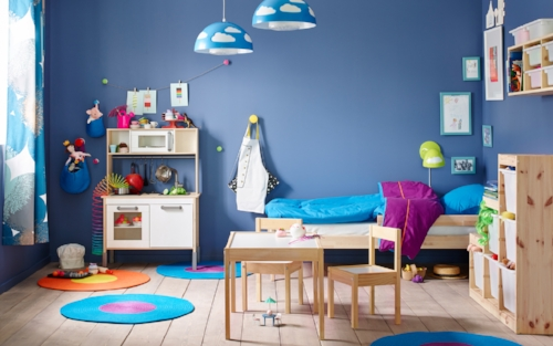 Blue is definitely not just a colour for boys!   Photo: ikea.com