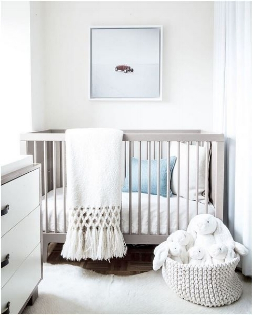 A little one's room doesn't need much. Simple spaces are perfect.   Photo: thebooandtheboy.com