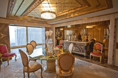 The Trump's Breakfast room is no less palatial. The extravagant decor throughout the house takes inspiration from the Palace of Versailles in France.   Photo: idesignarch.com via Sam Horine
