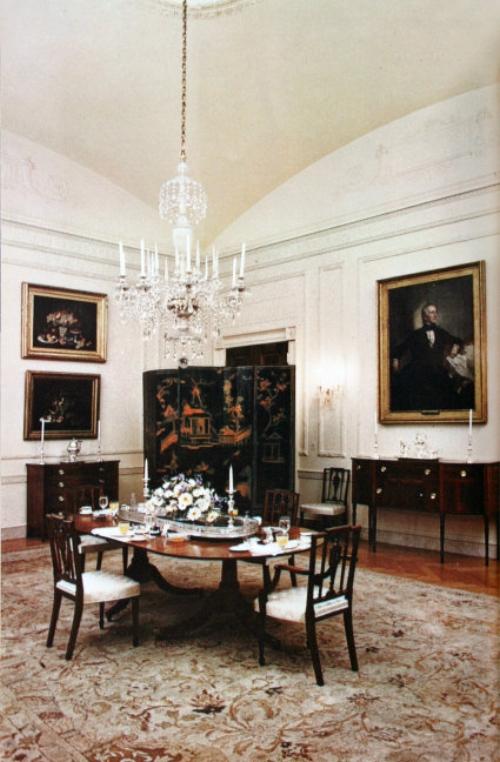 The family dining room in 1962.   Photo: whitehousemuseum.org