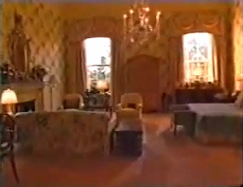 A very grainy image of the master bedroom during Bill & Hilary Clinton's time at the White House, but this administration did not release any other pictures of their private rooms. There is still a sense of their style though with lots of pattern, curtain swags and a feel that the main colours are yellow and cream.   Photo: whitehousemuseum.org