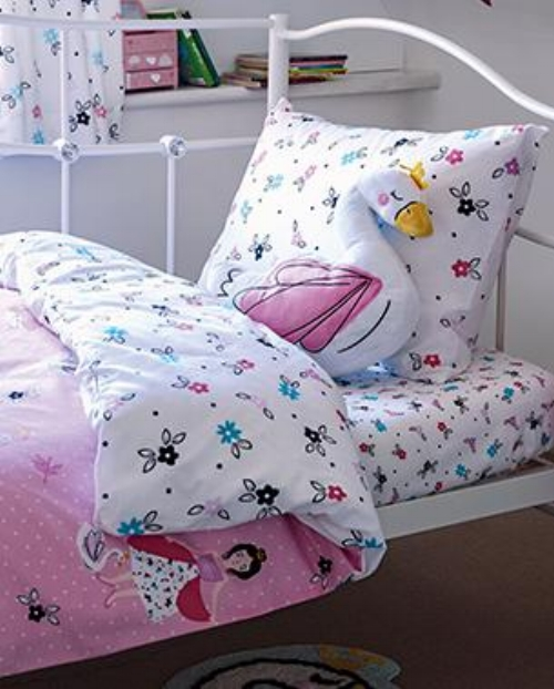 For cute cushions and sweet soft furnishings head to Asda, Start by accessorising your kid's bedroom with these fun textiles.   -  Swan Princess Bedding   -  Swan Princess Cushion