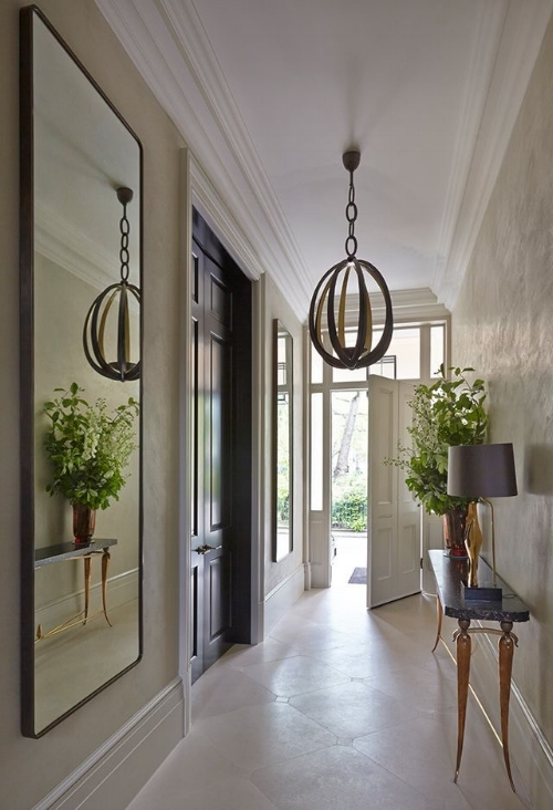 A hallway is such a natural choice for a mirror as so often they can be small and narrow. This tall mirror accentuates the wonderful ceiling height and furnishings, whilst maximising the feeling of space.   Image: todhunterearle.com