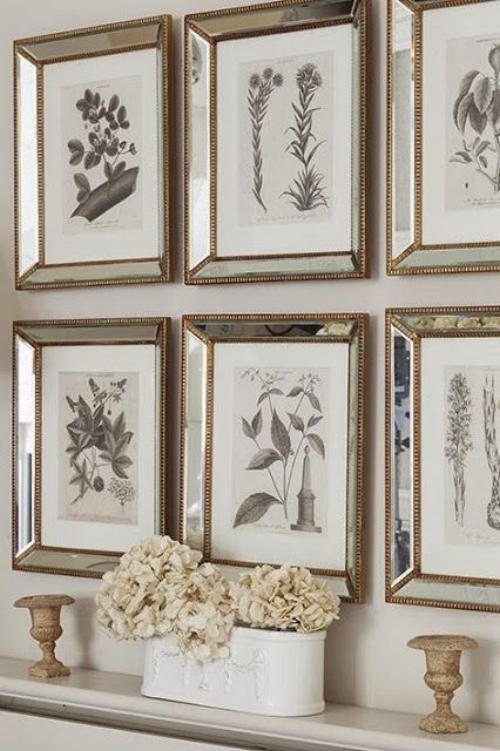 For a more gentle addition to your home, try putting up a wall of pictures in mirrored frames. They'll have light sparkling all over the place.   Image: moderncountrystyle.blogspot.co.uk