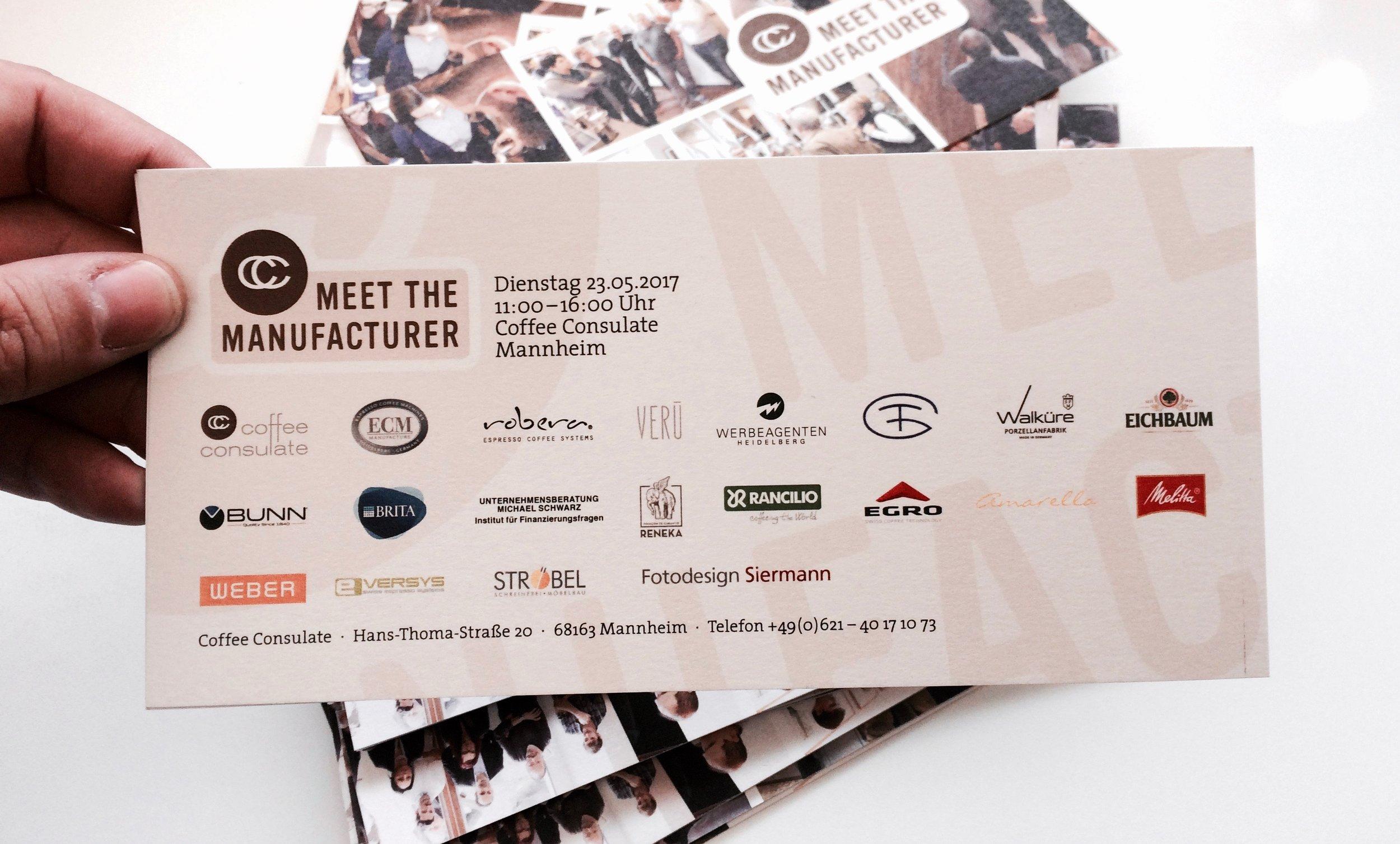 Die offiziellen Einladungskarten. Foto: Ingo H. Klett für die © WEBER Packaging GmbH, 2017