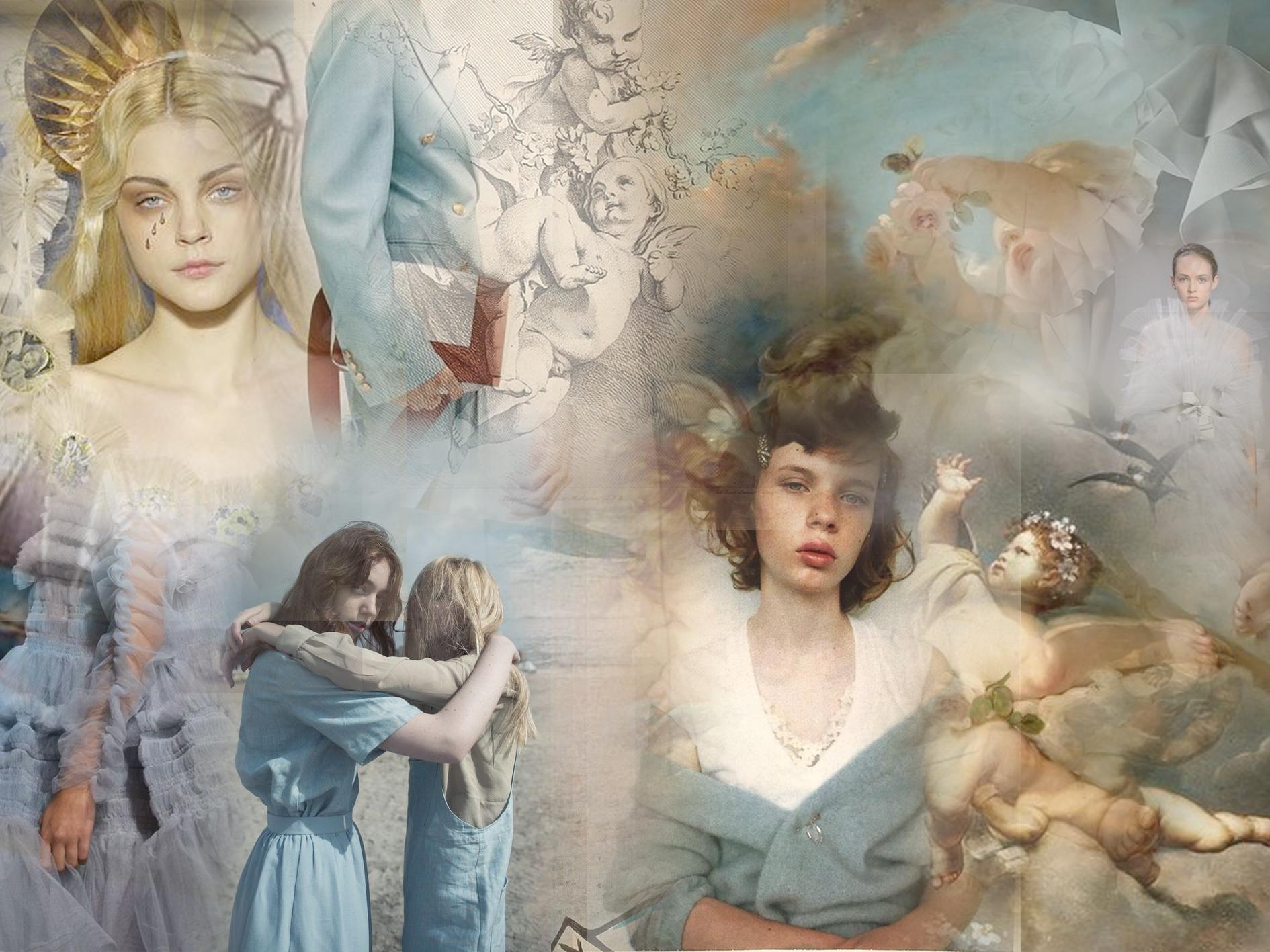 Das offizielle Moodboard zur 'Seraphic Frame' Kollektion. Collage: ©  Danny Reinke , 2019