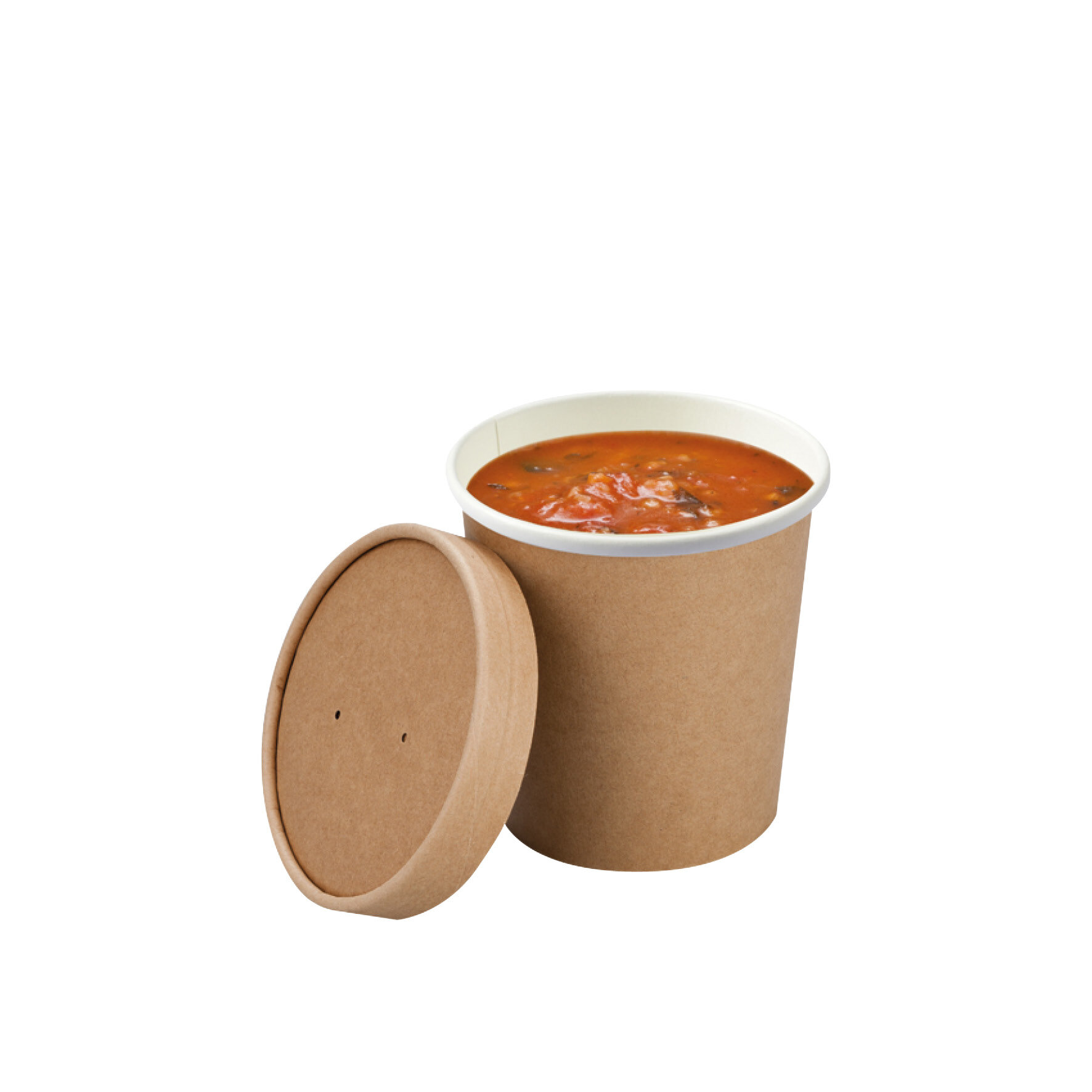 WEBAbowl  Soup to Go mit PLA Beschichtung    Kraftpapier mit Beschichtung aus Pflanzenstärke, kompostierbar, individuell bedruckbar, geeignet für Mikrowelle