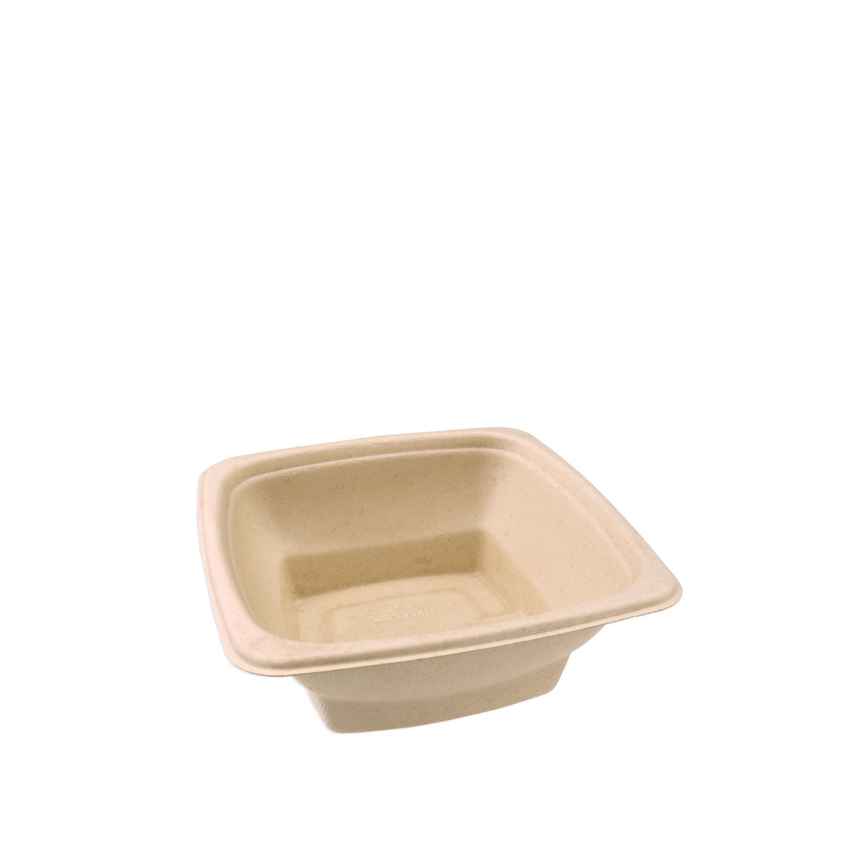 WEBAbowl  Hot2Go aus Bagasse    Schale: -10°C bis +120°C , Deckel: -8°C bis +100°C, Schale und Deckel geeignet für Mikrowelle, industriell kompostierbar, stapelbar