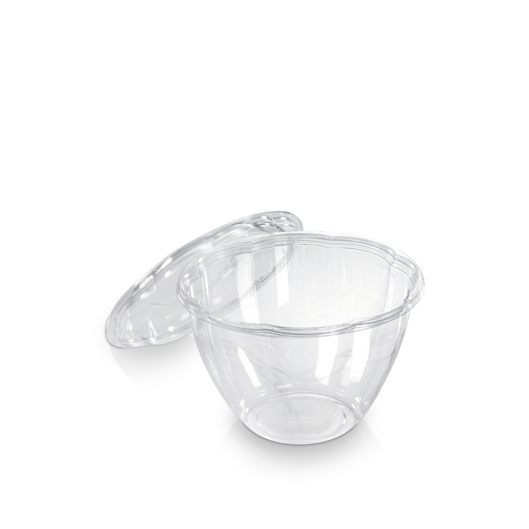 WEBAbowl  Schale Flower aus PLA    Glasklar, -18°C bis +45°C, industriell kompostierbar