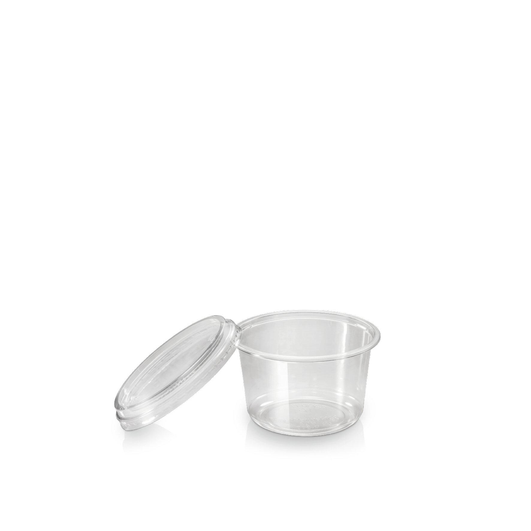WEBAbowl  Deli-Becher aus PLA    Glasklar, -18°C bis +45°C, industriell kompostierbar