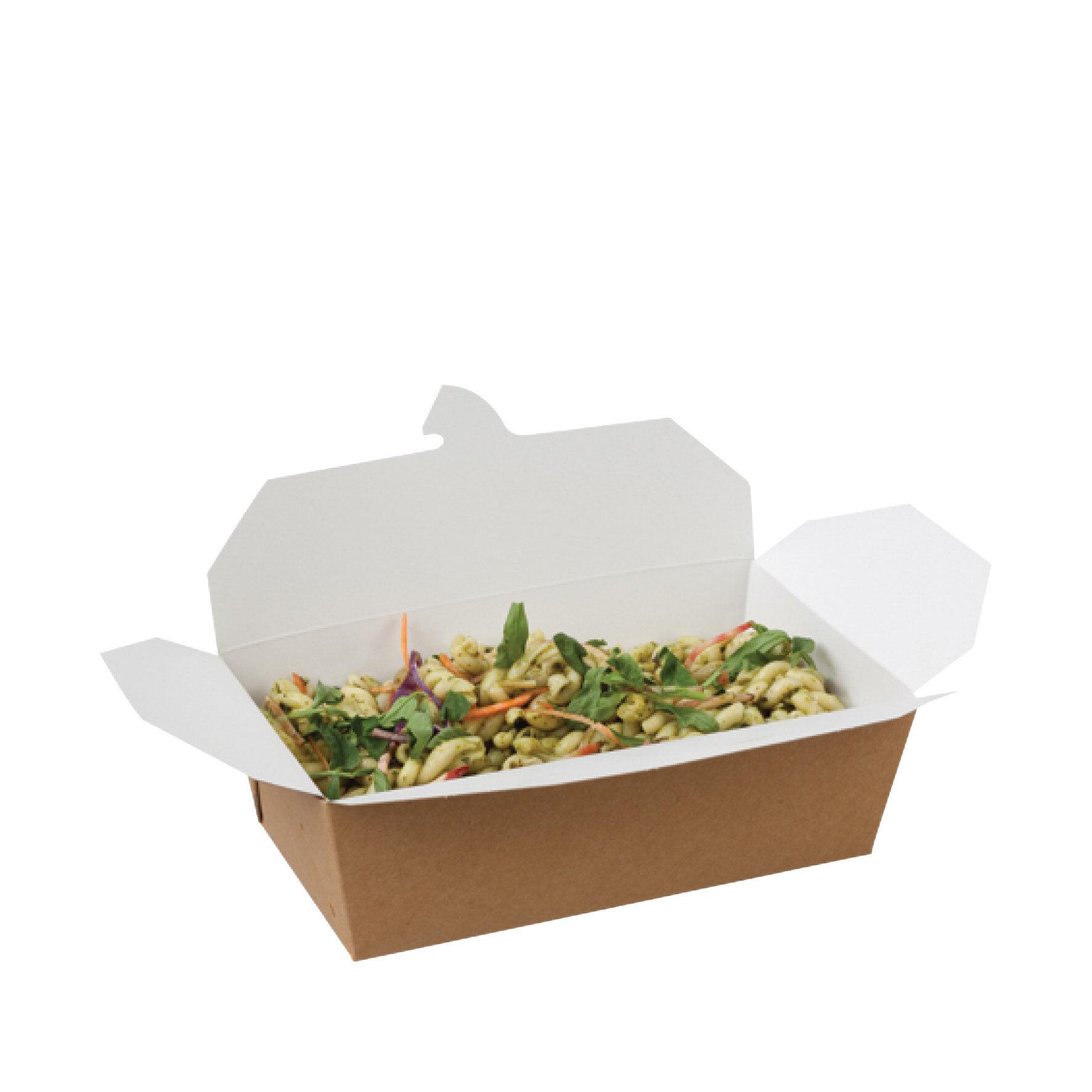 WEBAbox Multi-food Box Kraft  mit PLA Beschichtung    Faltbox, -18°C bis +45°C, industriell kompostierbar