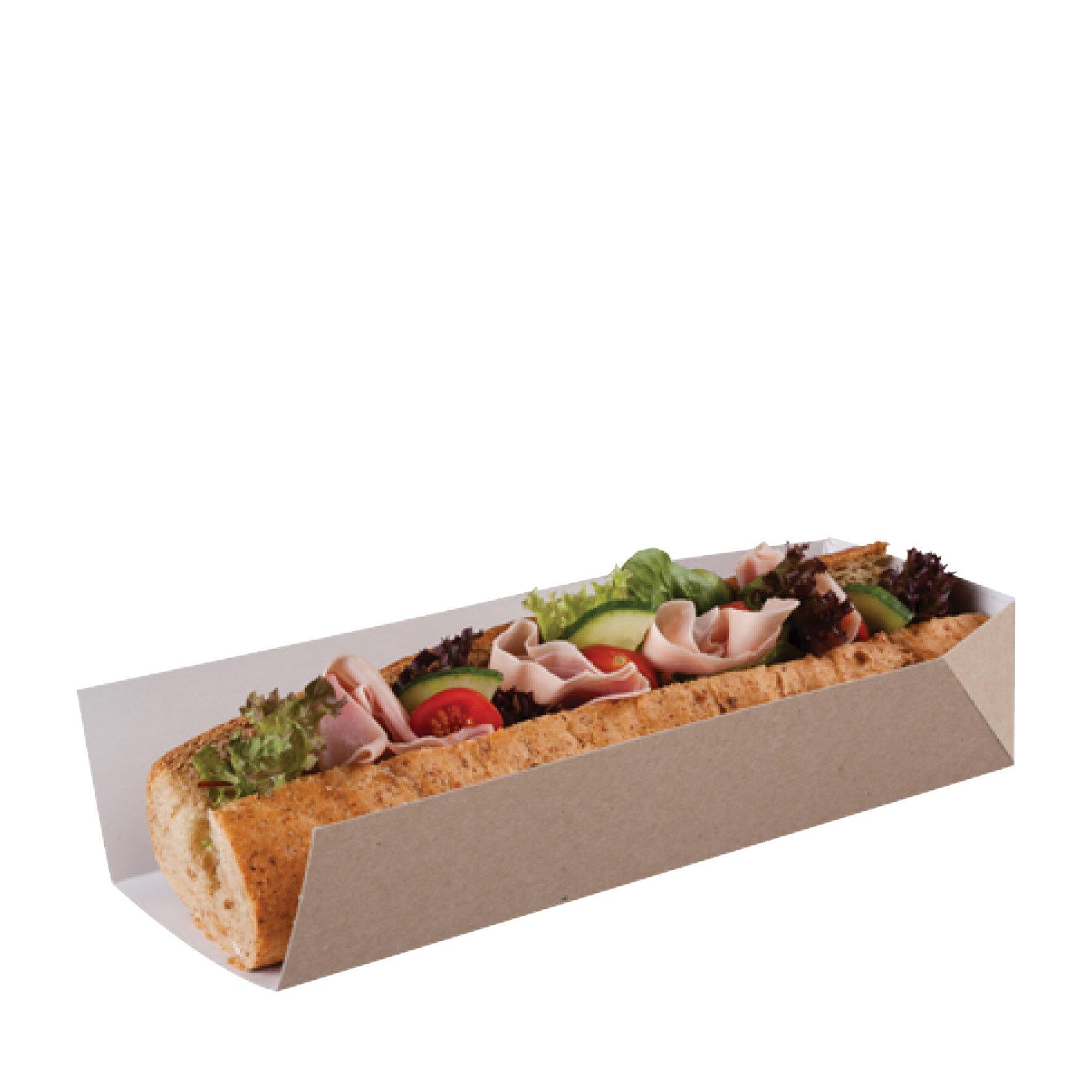 WEBAbox  Snack-Tray Kraft  mit PLA Beschichtung    -18°C bis + 40°C, Industriell kompostierbar