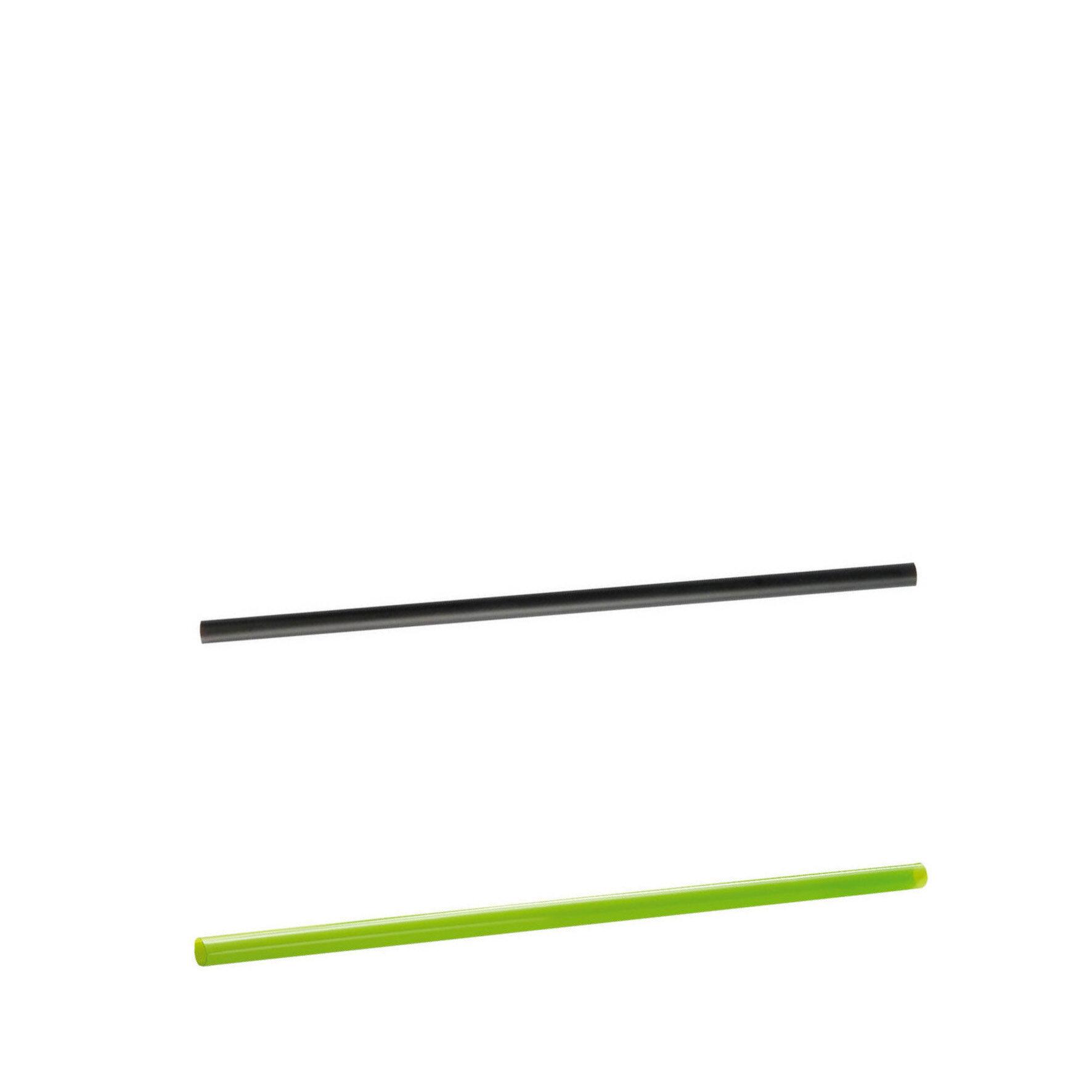 WEBAcup  Trinkhalm aus PLA    Grün und schwarz, bis max. +45°C, nicht für Heißgetränke geeignet, industriell kompostierbar