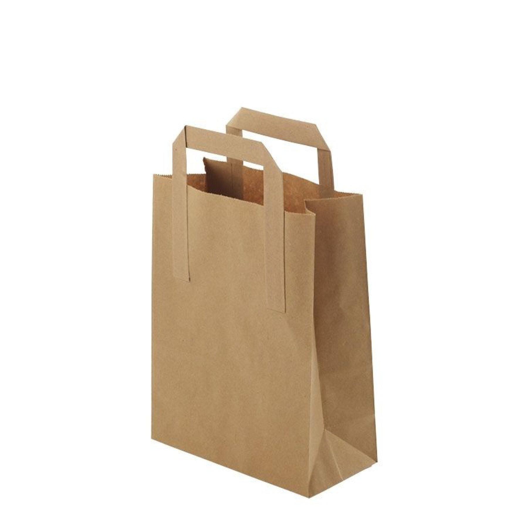 WEBAbag  Papiertragetasche  aus Kraftpapier    Individuell bedruckbar, mit Henkel, kompostierbar