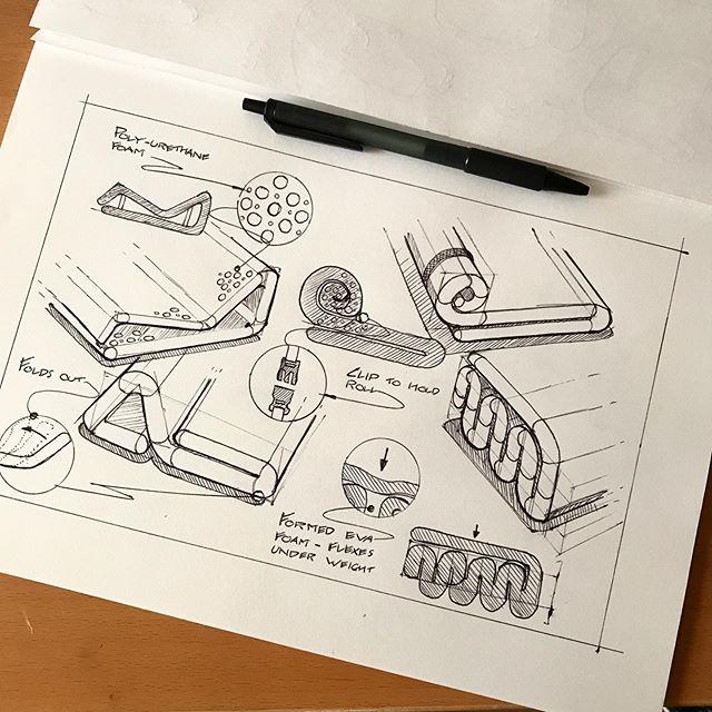 Folded foam lounges. . #furniture #furnituredesign #sketchdaily #sketching #instasketch #productdesign #industrialdesign #produktdesign #dailysketch #productsketch #id #idsketching #idsketches #idsketch #sketch #sketches #designinspiration #product #ideation #sketchbook #art #instagood  @industrialdesigncommunity @everydaydesignuk @wirebook @sketch.archive @idsketchesofficial