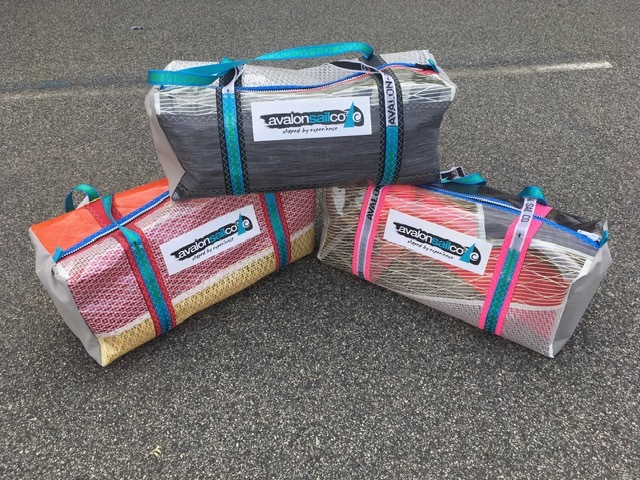 Australian made gear bags - made from recycled sails .. Contact us to order now!