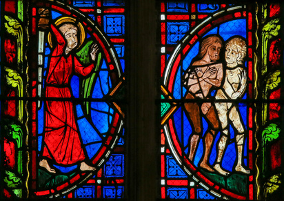The expulsion of Adam and Eve, Tours Cathedral