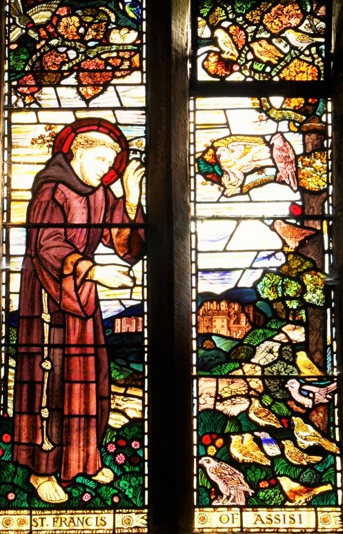 North window (Henry Payne), 'St. Francis of Assisi'