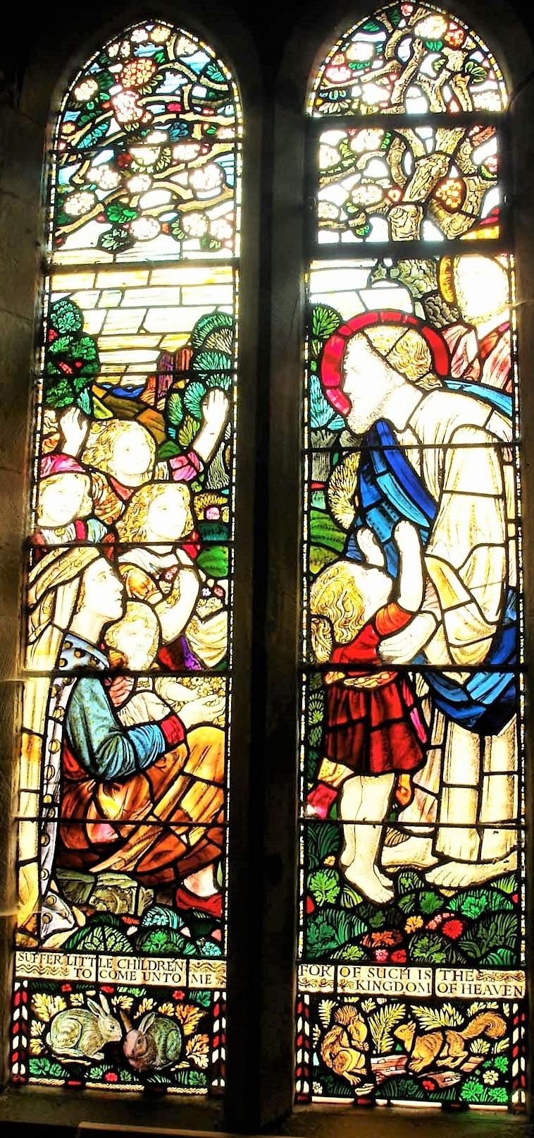 South window (Henry Payne), 'Suffer the Little Children...'
