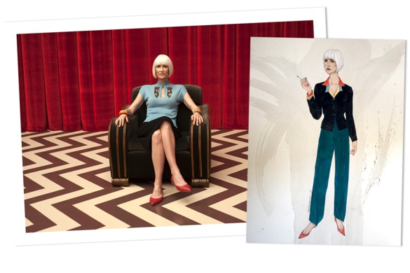 Vanity Fair —Inside The Secret, Stealthy Work Of Dressing Twin Peaks: The Return - Costume designer Nancy Steiner on the tall order of pleasing David Lynch and fashioning show-stoppers for Laura Dern.