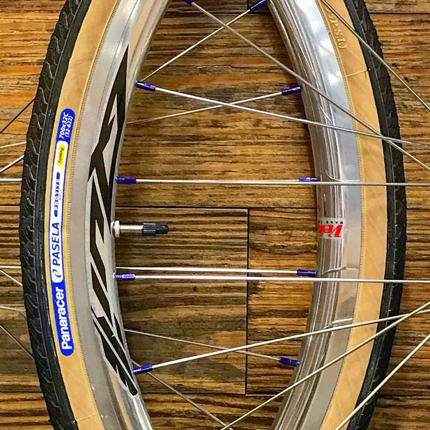 Velocity Quill polished rims & Paceline 7075 moonrock nipples