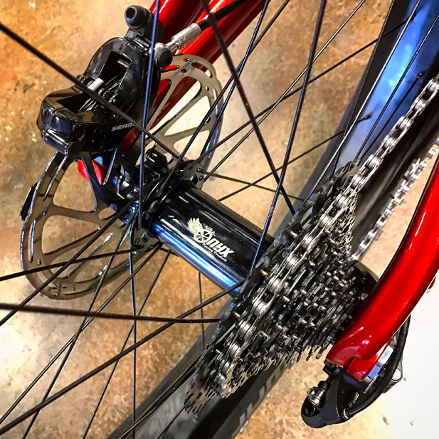 Onyx Racing Products hubs with Whisky No. 9 carbon fatbike rims
