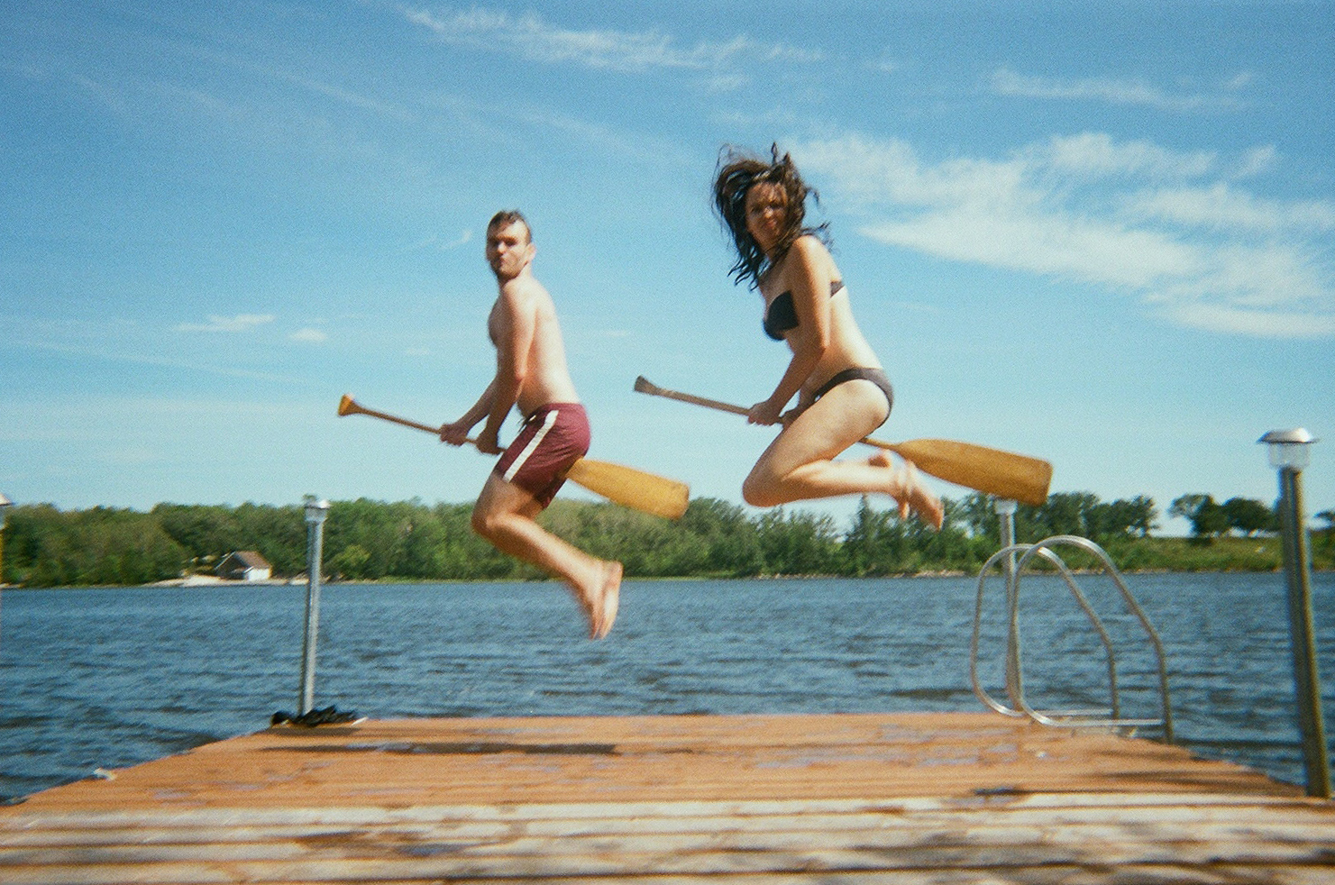 Flying at the Lake