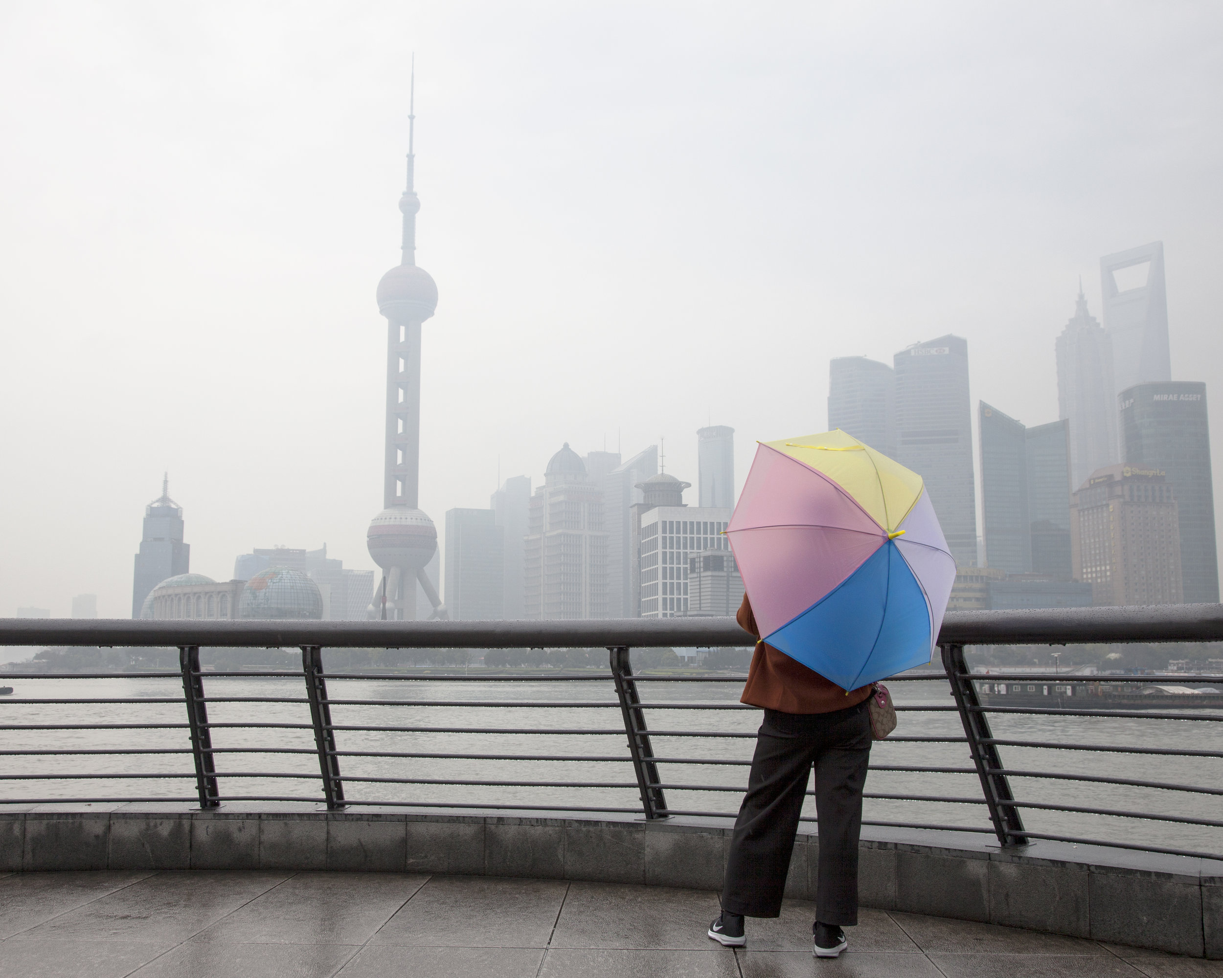 Rainy day at The Bund