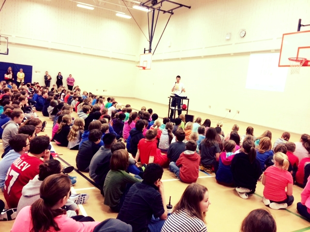 On February, 27th we had Right to Play come and present to our school. The presentation brings awareness to other countries who may not have the same resources or luxurious we have in Canada. The organization talks about everybody's right to play. The presentation also talks about how play can be an important learning and teaching tool. We had a school wide assembly. In the coming months, 25 of our leadership students will be trained a junior leaders. They will run stations where games will be played to raise awareness about issues that affect students in other countries and how we raise awareness to help solve certain problems around the world and in our own communities.  The Right to Play organization connects directly to global citizenship as it creates an awareness of different situations around the world and the importance of play.