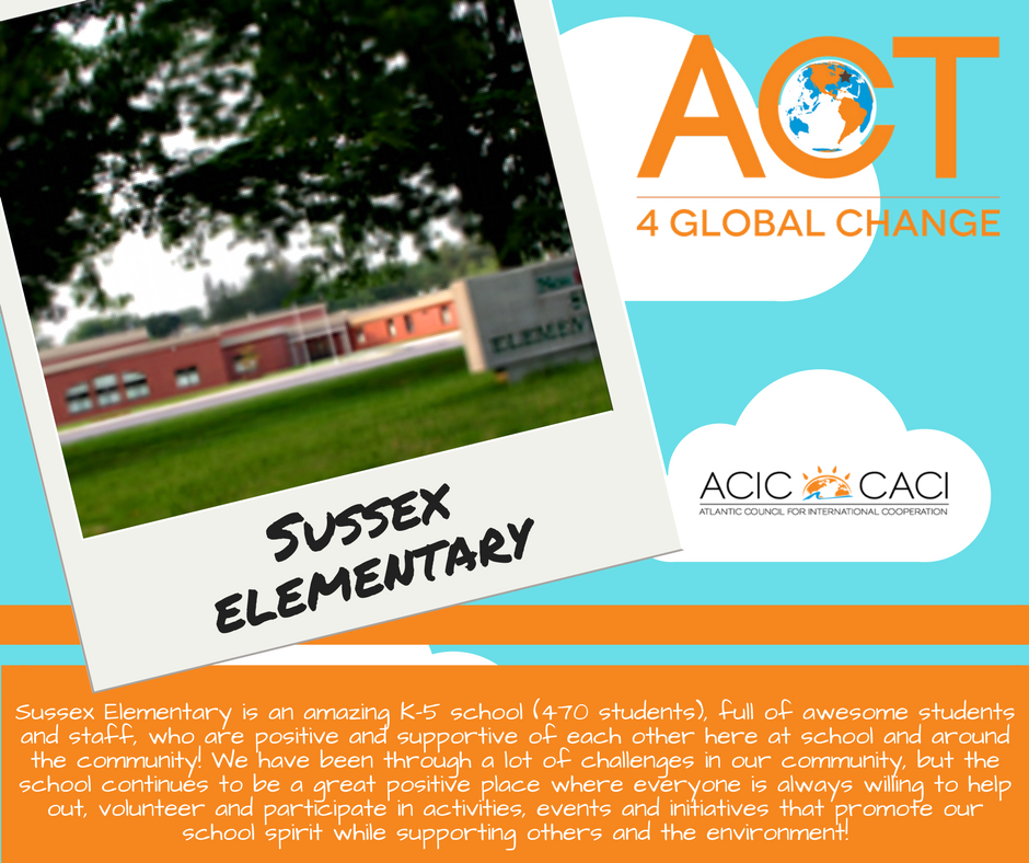 Drum roll please 😀 The winner of the 2017  #act4globalchange  challenge is...  Sussex Elementary School!  Congratulations! We're excited to hear what project you will organize with the $500 prize!! See you in the coming weeks!