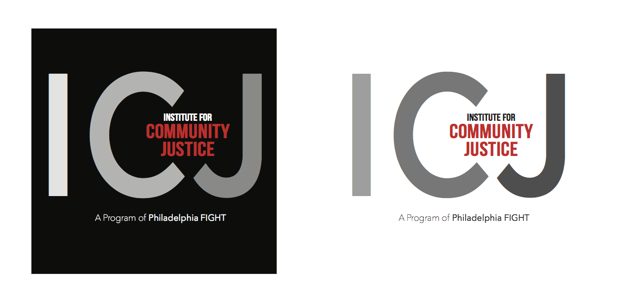 "A logo I designed for a local organization that provides services for formerly incarcerated people. They didn't want anything ""cliché"" or alienating, like bars or birds. My goal was to show a transition from one thing to another, with ICJ at the center of that transition."