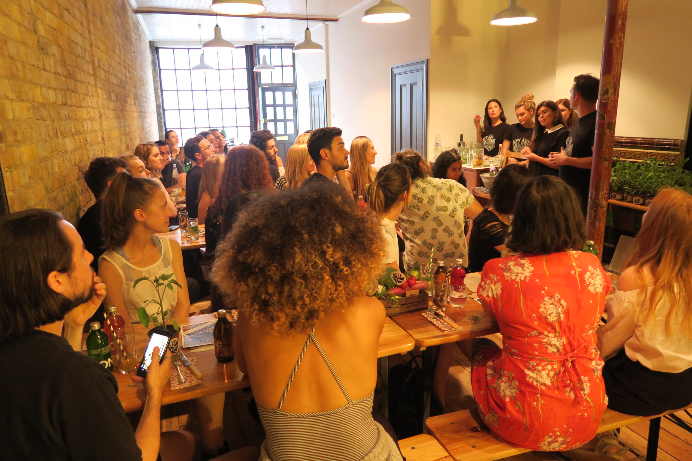 The evening event of the two part influencer event we organised for PlantCurious