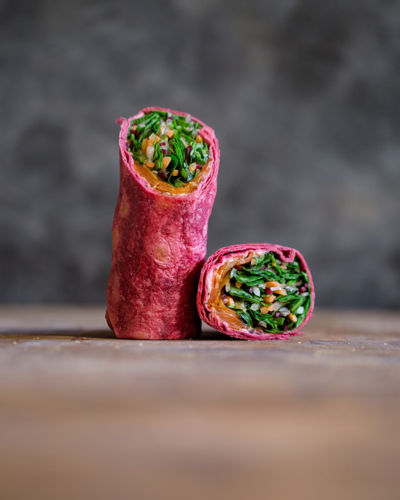 Carrot-Pastrami-wrap
