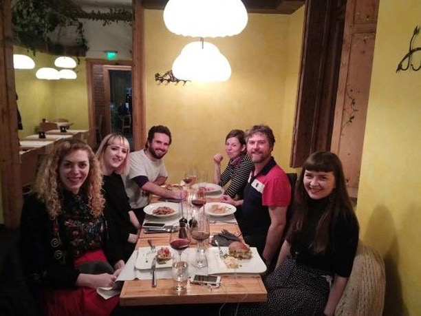 Having dinner at Samsara Foodhouse is Cluj, Romania