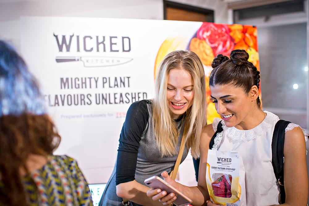 Picture: Vick Sirotyuk and Alpha Foodie at the Wicked Kitchen launch hosted by Vevolution.